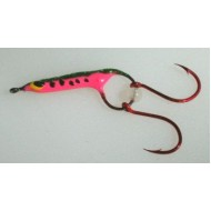 GVF Lures Handmade Bugs Pink Double Hook