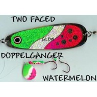 GVF Dodger/Lure Combo Dbl. Sided Watermelon 4.25""