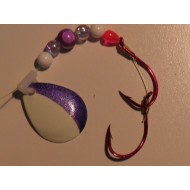 Glitter Bugs Custom Spinner White Purple Blade ***