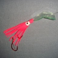 Crystal Basin Tackle Hoochie Thing Super Glow Pink