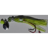 "ricTric Classic Series Glow Mini Hoochie ""Green w/Envy"" w/ Silver Blade"