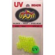 Radical Glow Beads Chartreuse UV 4MM 40 pack