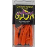 "Radical Glow Hoochie Tube 1 1/2"" Orange 5 Pk."