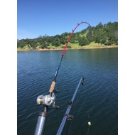"Velocity 7'3"" Team Kokanee Red Elite Fiberglass Rod"