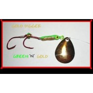 GVF Flourescent Gold Diggers Green Spinner Bug