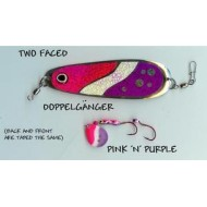 GVF Dodger/Lure Combo Dbl. Sided Pink/Purple 4.25""